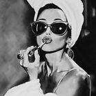 Black and White Photo Audrey Hepburn Canvas Nordic Posters Prints Wall Pictures