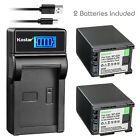 Kastar Battery LCD USB Charger for Canon BP-820 BP-828 & Canon VIXIA HFG21 HFG30