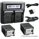 Kastar Battery Dual Fast Charger for Canon 820 BP-828 Canon VIXIA HF G60 Camera