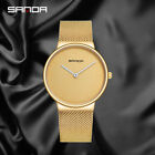 luxury Mens Gold Plated Iced out Simulated gentleman  Smooth surface Watch