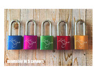 Personalised Engraved Love Padlock - 5 colours - Add Message - I love you