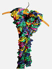 Women's Knitted Multicolor Ruffle Infinity Scarf