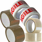 CLEAR - BROWN - FRAGILE - STRONG PACKAGING PARCEL CARTON SEALING TAPE