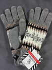 NWT Isotoner Womens Snowflake Chenille Microluxe Thinsulated Knit Winter Gloves