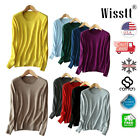 Womens Cashmere Loose Pullover ROUND Knit Sweater Cardigans Jumpers 2019
