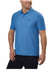 IZOD Men's Advantage Performance Golf Short Sleeve, Solid Polo Shirt M or L