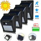 4x 30LED Solar Power Light PIR Motion Sensor Security Outdoor Garden Wall Lamp