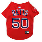 MOOKIE BETTS 50 Boston Red Sox MLBPA Officially Licensed Red Dog Jersey