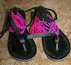 Ladies Unique Tanzanian Handmade Leather Beaded Flip Flops,Various Styles & Size