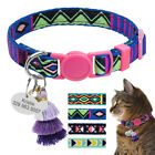 Nylon Personalized Cat Collar with Bell Kitten ID Tag Kitty Name Engraved