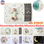 US Newborn Baby Girls Boy Blanket Milestone Photography Photo Backdrop Props