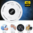 2MP 360° Panoramic WiFi IP Camera Fisheye Home Security Night Vision 8G TF Card