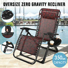 Kyпить Extra Wide Zero Gravity Chair Patio Lounge Folding Beach Recliner Support 350lbs на еВаy.соm
