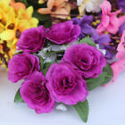 Chic Candle Ring Silk Wedding Handmade Flower Rose Tabletop Centerpieces Unity