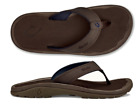Olukai Ohana Dark Wood/Dark Wood Comfort Flip Flop Men's sizes 7-18 NIB!!!