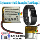 60mAh High Quality Replacement Batteryfor Fitbit Charge 2 Smart Fitness Watch