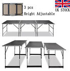 3FT Foldable Table 3pcs Adjustable Heavy Duty Outdoor Camping Home Picnic Office
