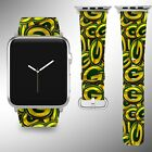 Green Bay Packers Apple Watch Band 38 40 42 44 mm Fabric Leather Strap 1 $29.97 USD on eBay