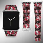 San Francisco 49ers Apple Watch Band 38 40 42 44 mm Fabric Leather Strap 1 on eBay