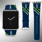 Seattle Seahawks Apple Watch Band 38 40 42 44 mm Fabric Leather Strap 2 on eBay