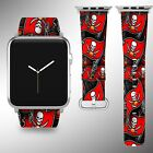 Tampa Bay Buccaneers Apple Watch Band 38 40 42 44 mm Fabric Leather Strap 1 on eBay