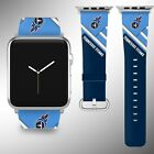Tennessee Titans Apple Watch Band 38 40 42 44 mm Fabric Leather Strap 2 on eBay