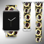 Washington Redskins Apple Watch Band 38 40 42 44 mm Fabric Leather Strap 1