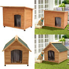 Home Garden Wooden Dog House Pet Shelter Large Kennel Houses with Removable Roof