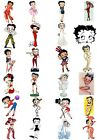 65 Mixed Betty Boop Small Sticky White Paper Stickers Labels NEW $5.58 AUD on eBay