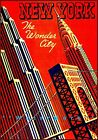New York City The Wonder City Vintage Poster Print Travel USA Free US Post