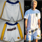 WARRIORS White Retro Big Logo Golden State Durant Curry Klay Basketball Shorts on eBay