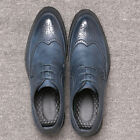 Men's Lace Up Brogue Wing Tip Wedding Leather Shoes Dress Formal Suit Oxfords