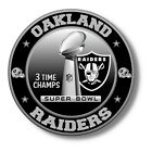 Oakland Raiders Super Bowl Championship Vinyl Sticker, NFL Decal 7 sizes