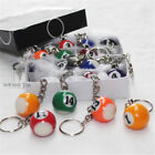 "1pcs No.1 - 15 Pool Billiard Keyring Ball Keychain Key Ring 1"" 25mm $1.23 USD on eBay"