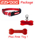 EZYDOG - RED Check Mate Dog Collar & Red LED Light & FREE TOY - All Sizes