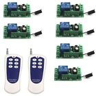 DC 12V 10A Relay 1CH wireless 6-key Remote Control ON OFF Transmitter 6 Receiver