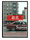 Supreme BMW Poster, Hypebeast Poster Pop Culture Wall Art Streetwear Poster