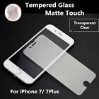 "Premium Matte Frosted Tempered Glass Screen Protector For iPhone 7 4.7"" & 7 Plus"