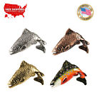 Creative Pewter Designs Brook Trout Fish Leaping  Lapel Pin or Magnet, F007 $14.99 USD on eBay