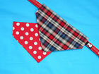 TARTAN DOG BANDANAS DOUBLE SIDED ..SEVERAL DESIGNS