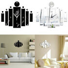 Внешний вид - Modern DIY 3D Mirror Surface Wall Clock Sticker Home Decoration Black White