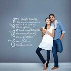 House Rules Vinyl Wall Decal In This House We Love Deeply Home Art Sticker Decor