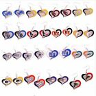 Brand New  NFL Teams Swirl Heart Earrings Pick Your Team on eBay