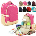 Waterproof Baby Diaper Bag Backpack Changing Bag Travel Fashion Mother Bag NWT