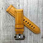 For Panerai PAM Luminor Marina 22/20mm 24/22mm Orange Leather Watch Strap Band