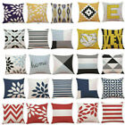 Latest Throw Cotton Waist Geometric Pillow Cover Sofa Cushion Decor Home Case image