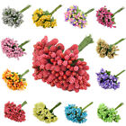 12pcs/set Mulberry Fake Flower Stamen Stem Wedding Home Party Box Decoration
