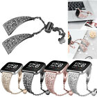 For Fitbit Versa/Lite Diamond Bling Stainless Steel Strap Watch Band Wristband image