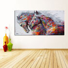 Oil Painting Wall Decor Art Canvas HD Prints Poster Colorful Pentium Horses