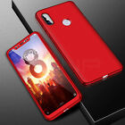 360° Full Cover Case + Tempered Glass For Xiaomi Mi 9 8 A1 A2 Lite Pocophone F1